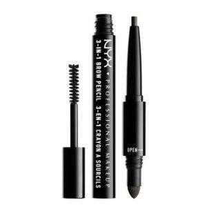 3-in-1 Brow Pencil – 10 Black