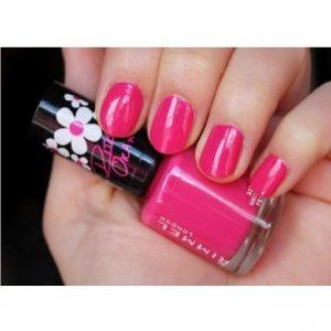 Rimmel London, 60 Seconds Super Shine  Nail Polish -NEON FEST, a bright hot pink.