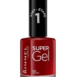 Rimmel London, Super Gel – Venus,  a glossy dark red shade.