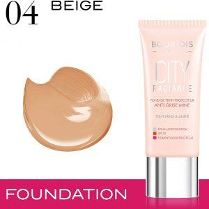 Bourjois, City Radiance. Foundation. 04 Beige. 30 ml ? 1.0 fl oz