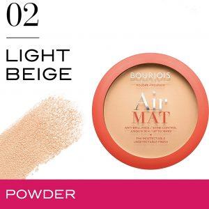 Bourjois, Air Mat compact powder.02 Light Beige. 10g – 0.35 oz