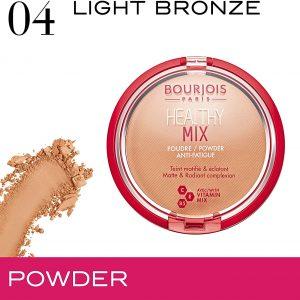 Bourjois Healthy Mix Anti-Fatigue Powder 04 Light Bronze, 11g/0,38 oz