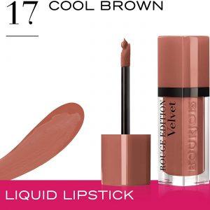 Bourjois, Rouge Edition Velvet. Liquid lipstick. 17 Cool Brown. Volume: 6.7ml – 0.23fl oz