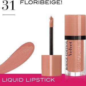 Bourjois, Rouge Edition Velvet. Liquid lipstick. 31 Floribeige! . Volume: 6.7ml – 0.23fl oz