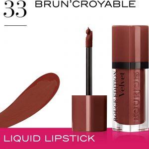 Bourjois, Rouge Edition Velvet. Liquid lipstick. 33 Brun?croyable. Volume: 6.7ml – 0.23fl oz