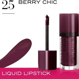 Bourjois, Rouge Edition Velvet. Liquid lipstick. 25 Berry Chic. Volume: 6.7ml – 0.23fl oz