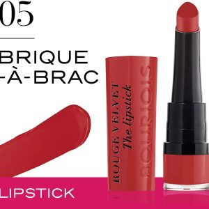 Bourjois, Rouge Velvet The Lipstick. 05. Brique-?-brac . 2.4g – 0.08oz